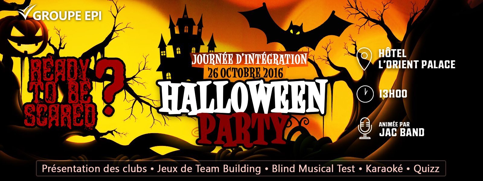 EPI Sousse Halloween Party Event Cover