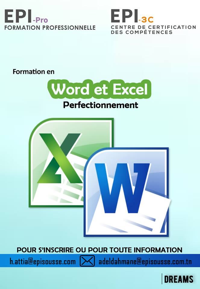 diplome word excel