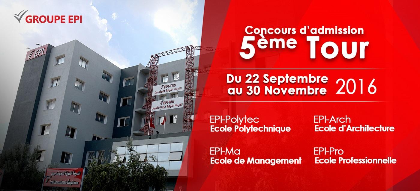 epi concours admission