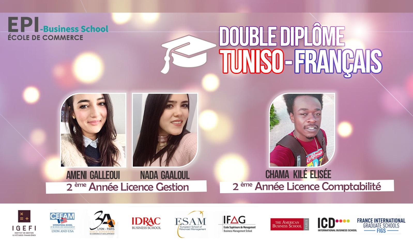 Double diplôme 2018