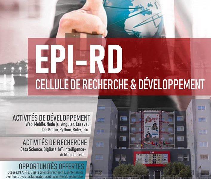 création de la Cellule Recherche et Développement (EPI-RD)